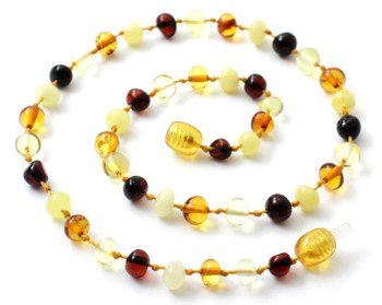 Kid, Mix, Amber, Necklace, Polished, Multicolor, Baltic, Teething, Jewelry 2