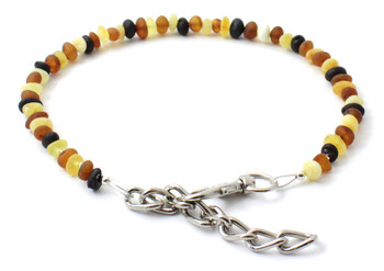 Pet, Dog, Cat, Collar, Necklace, Baltic Amber, Raw, Unpolished, Against Fleas and Ticks