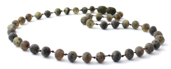 Raw, Necklace, Green, Amber, Unpolished, Teething, Baltic, Beaded, Baby