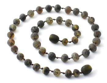 Raw, Necklace, Green, Amber, Unpolished, Teething, Baltic, Beaded, Baby 2