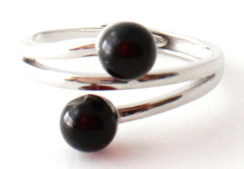 Ring, Amber, Jewelry, Baltic, Silver, Adjustable, Sterling 925, Cherry, Cognac