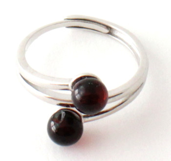 Ring, Amber, Jewelry, Baltic, Silver, Adjustable, Sterling 925, Cherry, Cognac 2
