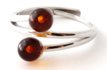 Ring, Amber, Jewelry, Baltic, Silver, Adjustable, Sterling 925, Cherry, Cognac 3