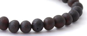 Jewelry, Cherry, Baltic, Unpolished, Amber, Raw, Stretch, Bracelet, Black, Round Beads 2