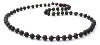 Unpolished, Necklace, Raw, Baroque, Cherry, Jewelry, Baltic, Beaded, Amber, Women