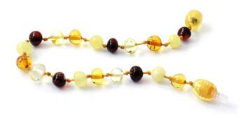 Baroque, Mix, Amber, Polished, Multi, Baltic, Beaded, Teething, Bracelet, Anklet, Jewelry 2