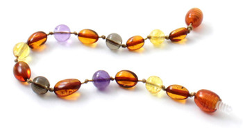 Cognac, Citrine, Bean, Anklet, Amber, Polished, Teething, Bracelet, Baby, Baltic 2