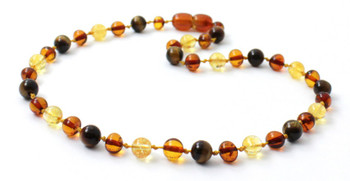 Tiger Eye, Necklace, Baltic, Beaded, Amber, Polished Cognac, Citrine, Teething, Gemstone