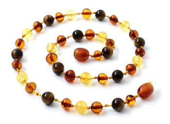 Tiger Eye, Necklace, Baltic, Beaded, Amber, Polished Cognac, Citrine, Teething, Gemstone 2