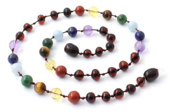 Polished, Necklace, Cherry, Baltic, Jewelry, Amber, Chakra, Colorful, Adult, Women 2