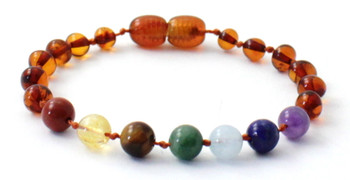Amber, Chakra, Bracelet, Polished, Cognac, Anklet, Jewelry, Knotted, Baltic, Gemstone