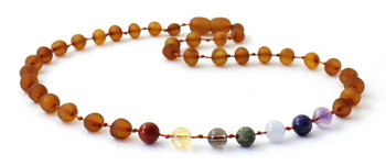 Raw, Chakra, Cognac, Necklace, Teething, Unpolished, Baltic, Gemstone