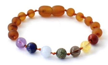 Amber, Anklet, Chakra, Raw, Cognac, Unpolished, Bracelet, Baltic, Gemstone