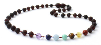 Cherry, Ckakra, Necklace, Unpolished, Gemstone, Raw, Teething, Baltic