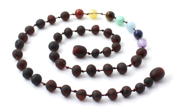 Cherry, Ckakra, Necklace, Unpolished, Gemstone, Raw, Teething, Baltic 2
