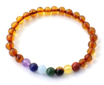 Bracelet, Cognac, Polished, Stretch, Baltic, Chakra, Jewelry, Adult, Amber 2