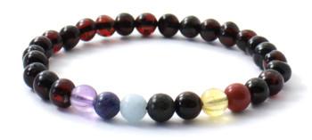 Amber, Stretch, Cherry, Chakra, Baltic Jewelry, Polished, Gemstone