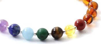 Sterling 925, Cognac, Bracelet, Silver, Baltic Amber, Polished, Jewelry, Beaded, Chakra 2
