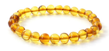 Stretch, Honey, Bracelet, Amber, Jewelry, Polished, Baltic, Golden, Authentic