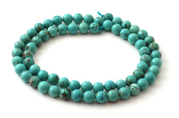 Turquoise, green, 6 mm, 6mm, round, beads, strand, gemstone