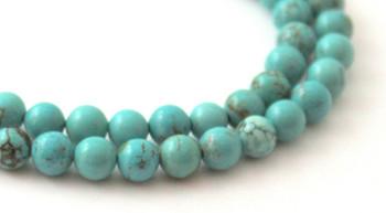 Turquoise, green, 6 mm, 6mm, round, beads, strand, gemstone 2