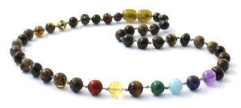 Green, Amber, Polished, Chakra, Necklace, Jewelry, Gemstone, Baltic, Teething