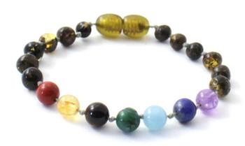 Green, Baltic, Chakra, Amber, Anklet, Teething, Adult, Bracelet, Gemstone, Jewelry