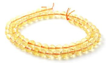 Gemstone, Citrine, 6mm, Gemstone, 6 mm, Yellow, Beads, Strand