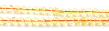 Gemstone, Citrine, 6mm, Gemstone, 6 mm, Yellow, Beads, Strand 2