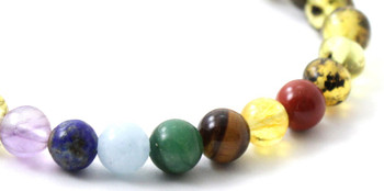 Chakra, Amber, Green, Stretch, Jewelry, Bracelet, Gemstone, Elastic, Adult, Men 2