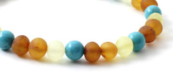 Bracelet, Turquoise, Mix, Multicolor, Amber, Baltic, Stretch, Green, Adult, Jewelry 2