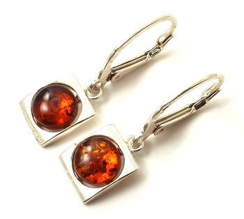 Dangle, Silver, Sterling 925, Amber, Baltic, Cube, Earrings, Jewelry, Drop 2