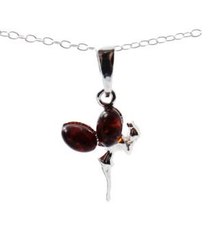 Baltic, Pendant, Amber, Fairy, Sterling Silver 925, Minimalist, Tiny, Jewelry, Jewellery