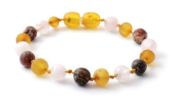honey, raw, gemstone, anklet, amber, baltic, unpolished, leopardskin jasper, bracelet, green lace stone