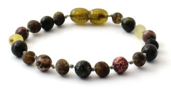 green, anklet, bracelet, teething, jewelry, amber, baltic, raw, green, unpolished, green lace stone, leopardskin jasper