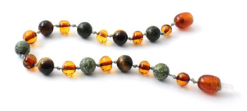 cognac, green lace stone, anklet, bracelet, teething, baltic, amber, tiger eye, jewelry 2