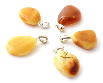 pendant, amber, butter, milky, baltic, jewelry, silver, sterling 925, jewellery, polished