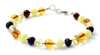 mix, amber, bracelet, multicolor, baltic, silver, jewelry, jewellery, sterling 925