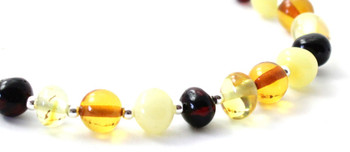 mix, amber, bracelet, multicolor, baltic, silver, jewelry, jewellery, sterling 925 2