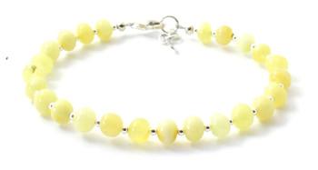 bracelet, jewelry, amber, silver, baltic, milky, polished, sterling 925, butter, jewellery