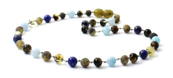 necklace, green, raw, amber, unpolished, blue, boy, baltic, aquamarine, lapis lazuli