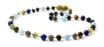 necklace, green, raw, amber, unpolished, blue, boy, baltic, aquamarine, lapis lazuli