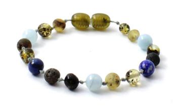 bracelet, amber, boy, blue, green, raw, baltic, unpolished, anklet, aquamarine, lapis lazuli
