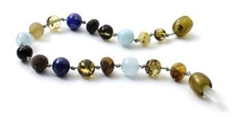 bracelet, amber, boy, blue, green, raw, baltic, unpolished, anklet, aquamarine, lapis lazuli 2