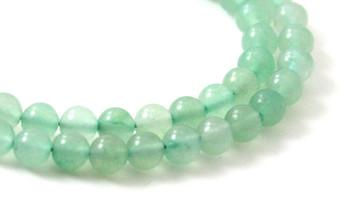 Aventurine, Gemstone, Bead, Beads, Strand, Green, Natural, 6 mm, 6mm, round, polished 2