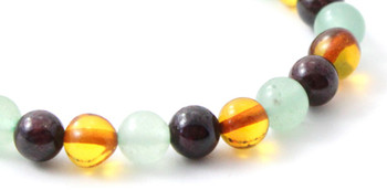 Bracelet, Gemstone, Stretch, Amber, Baltic, Jewelry, Women, Aventurine, Green, Garnet 2