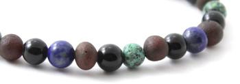 Bracelet, Amber, Stretch, African Turquoise, Baltic, Jewelry, Cherry, Lapis Lazuli, Obsidian 2