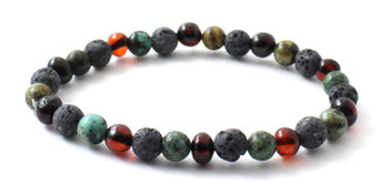 Amber, Stretch, Grey, Lava, Bracelet, Jewelry, Cherry, Polished, African Turquoise, Baltic