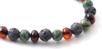 Amber, Stretch, Grey, Lava, Bracelet, Jewelry, Cherry, Polished, African Turquoise, Baltic 2