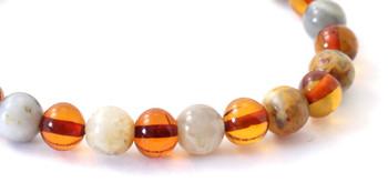 Stretch, Bracelet, Amber, Baltic, Crazy Agate, Polished, Cognac, Gemstone, Jewelry 2